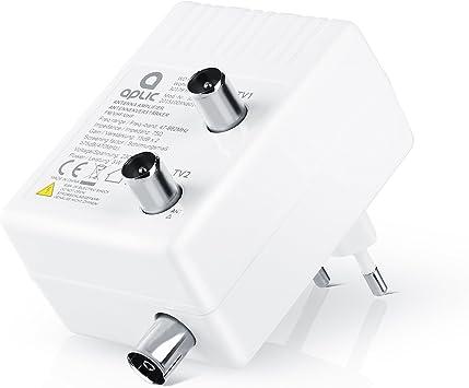 Amplificador de Antena Aplic para Dos aparatos para DVB-T T2 ...