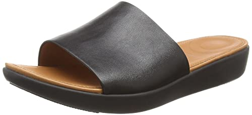 5fc1bf803 fitflop Womens Sola Slides - Iridescent Leather Slide Sandal: Amazon ...