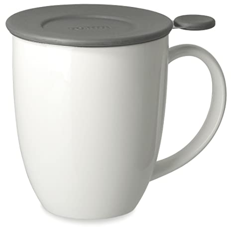 2cfc578eab1 FORLIFE Uni Brew-in-Mug with Tea Infuser and Lid, 16-Ounce, White