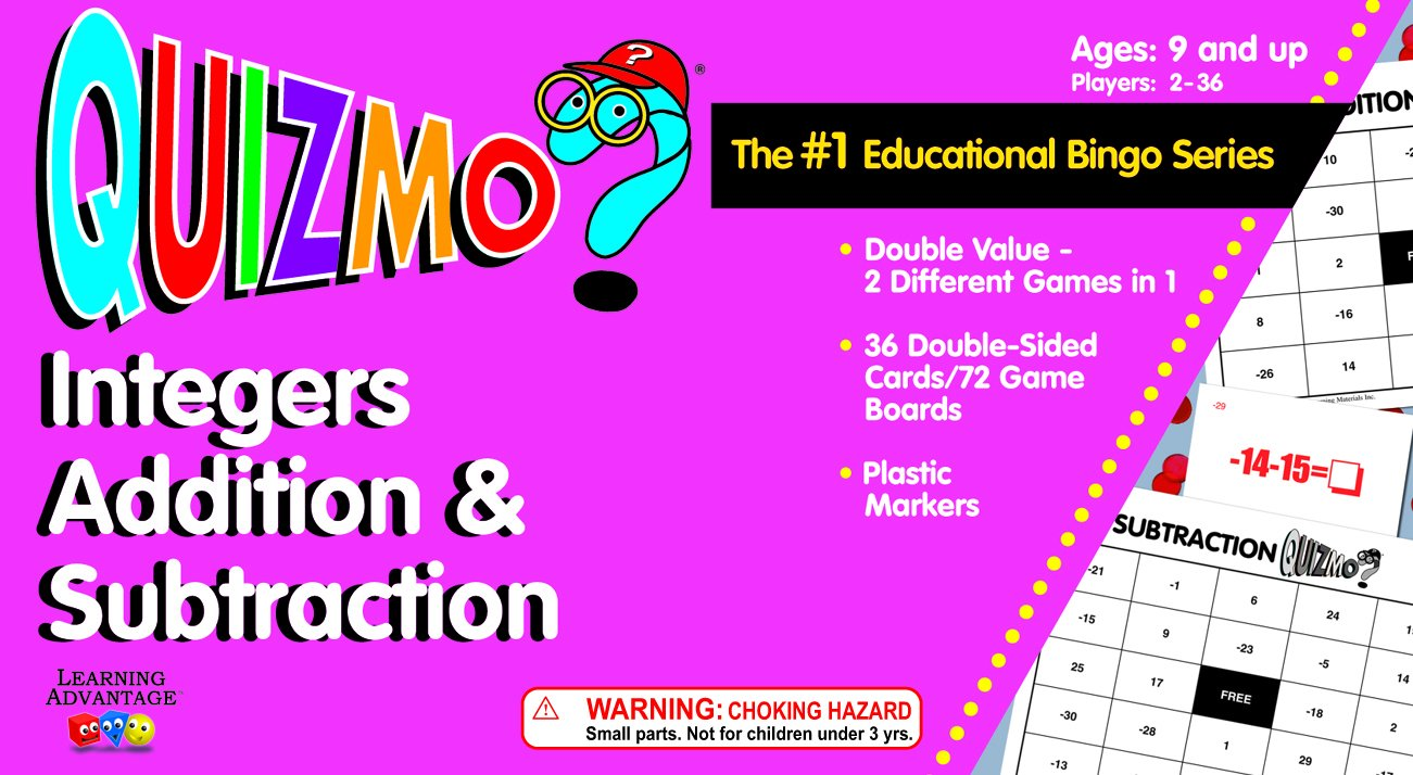 quizmo math integers game