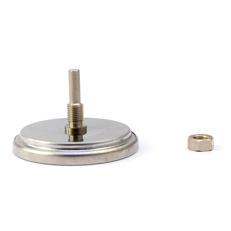 Lantelme 5831 Barbacoa Term/ómetro Black 400 Series Resistente al agua de acero inoxidable Analog y bimetal
