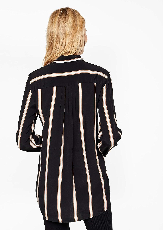 s.Oliver svart etikett damblus Black (Grey/Black Stripes 99g1)