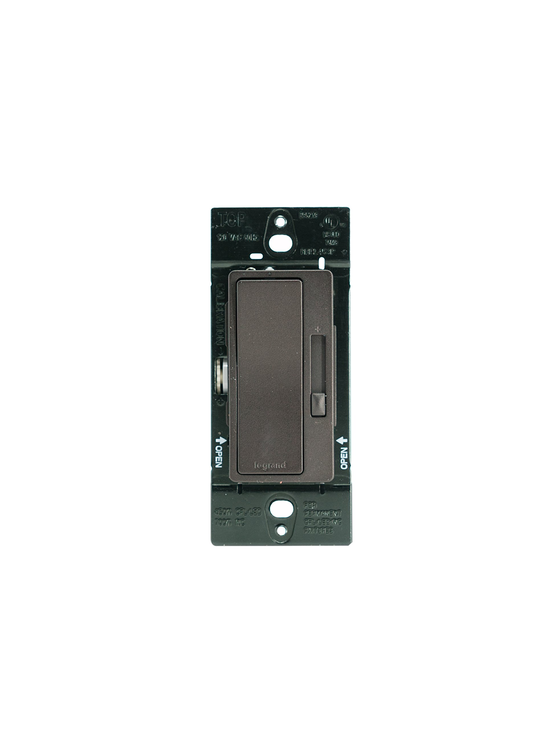 Legrand-Pass & Seymour RHCL453PDBCCV4 CFL/ LED Dimmer Switch, 3 Way / Single Pole Universal Dimmer Switch, Black