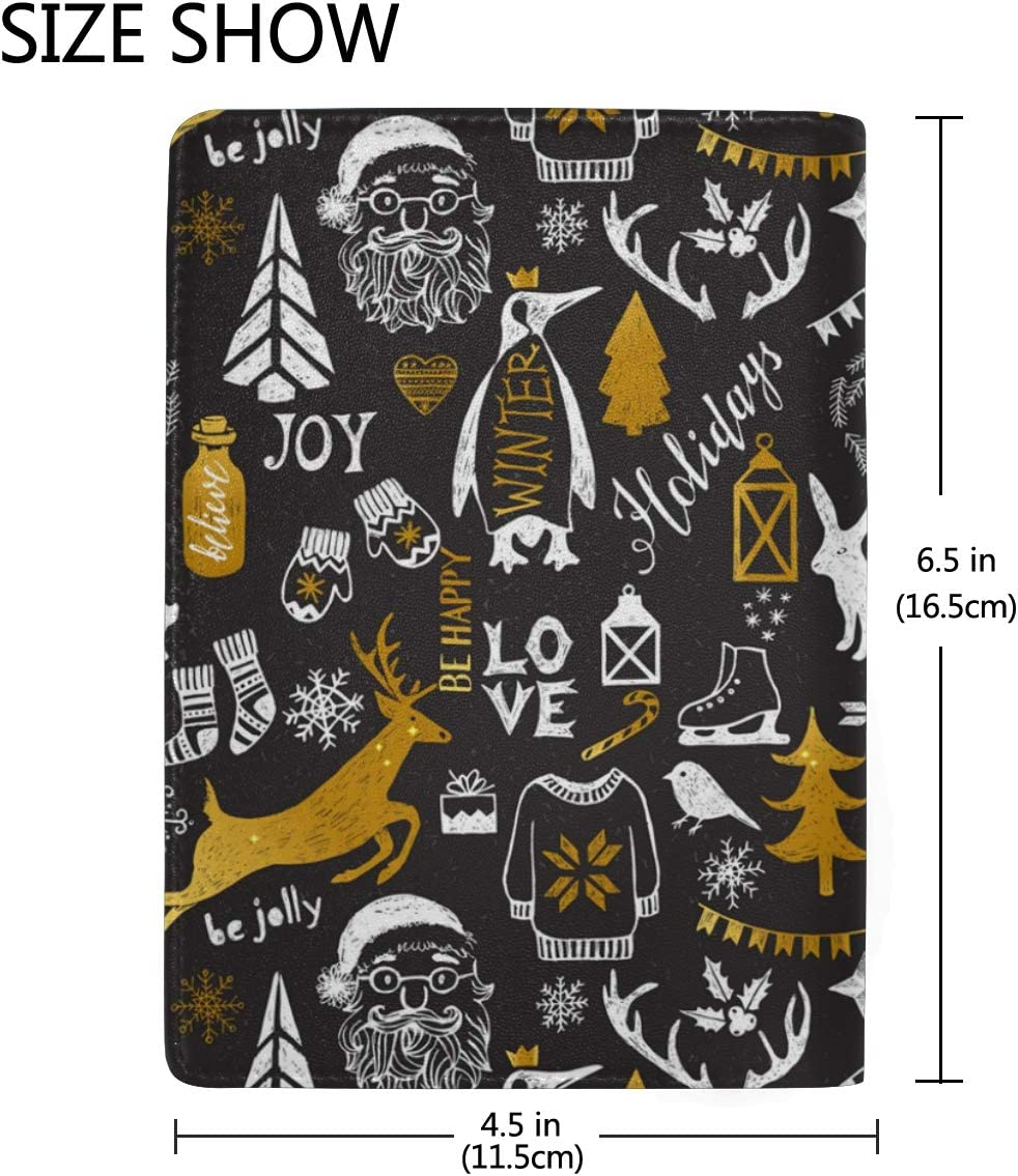 Nightmare Before Christmas Decorations Gift Leather Passport Holder Cover Case Blocking Travel Wallet