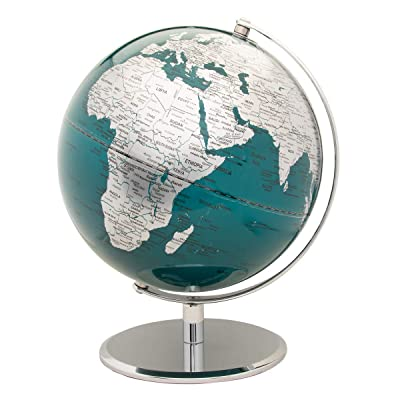 Wild Wood Globe Light | 10 Inch | Chrome and Blue: Kitchen & Dining