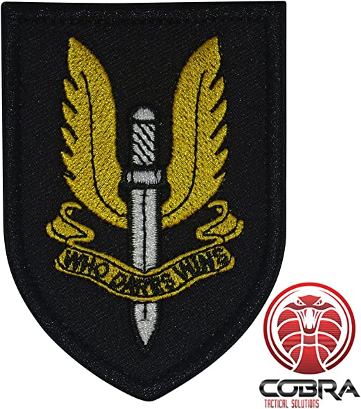 Cobra Tactical Solutions SAS Who Dares Wins Parche Bordado Táctico ...