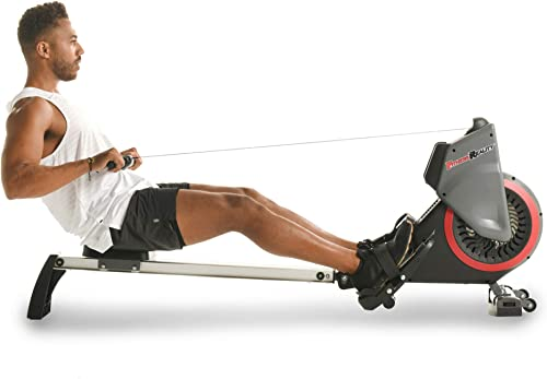 Fitness Reality Dual Transmission Fan Rower Rowing Machine