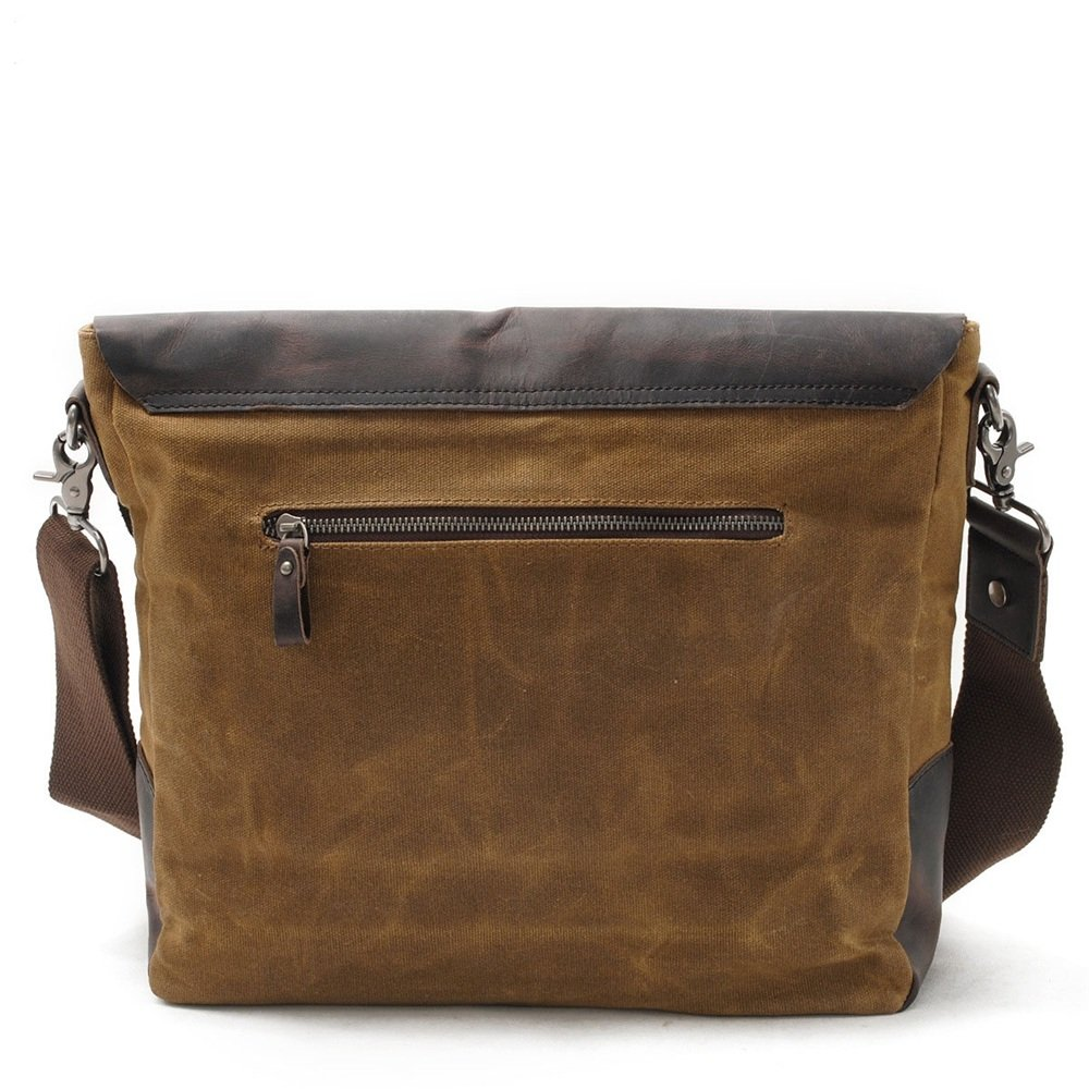 Sunmiao Simple Retro Waterproof Canvas Messenger Bag Shoulder Bag Messenger Bag Color Khaki
