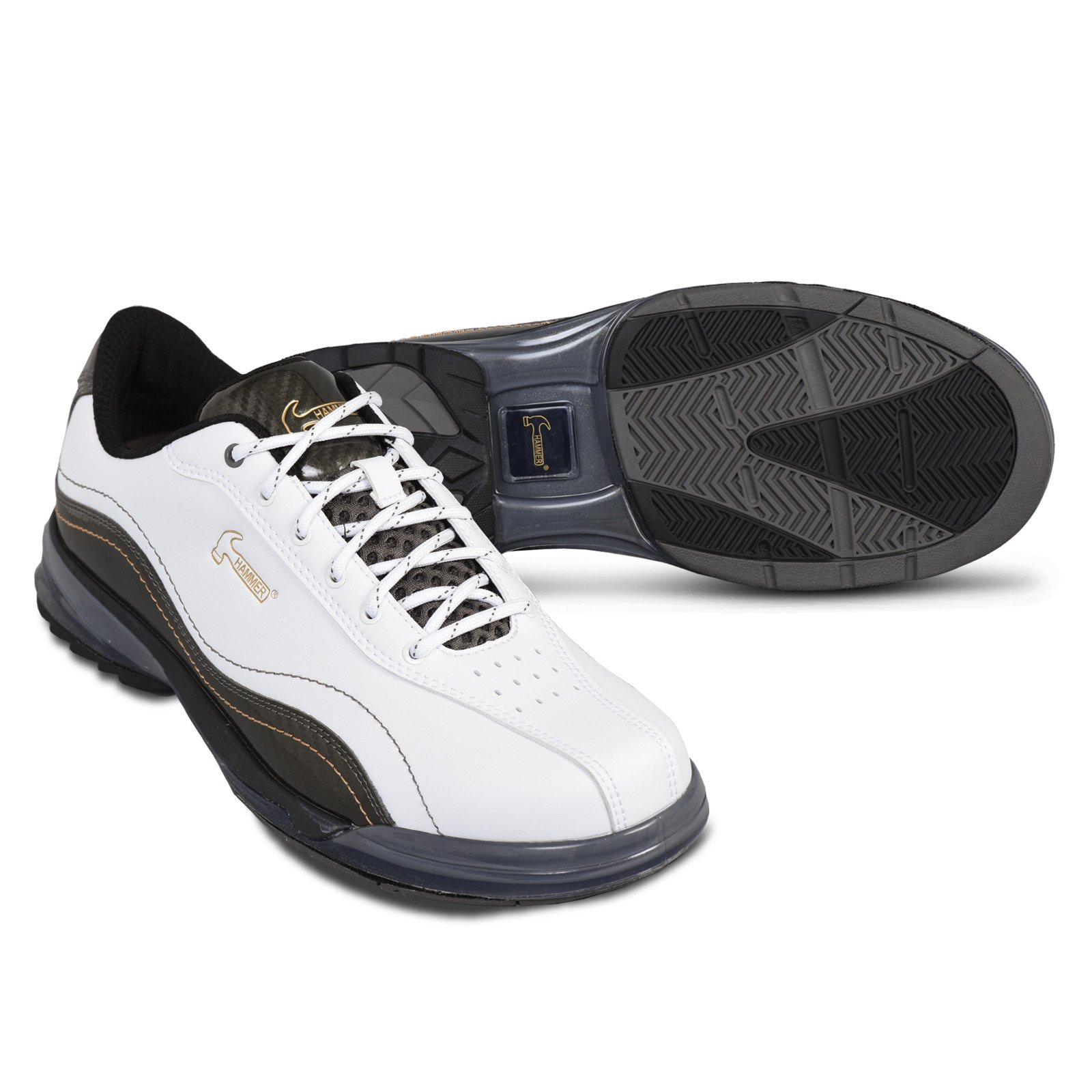 KR Strikeforce Men's Hammer Performance Bowling Shoes, White/Carbon, Size 10.5 by KR Strikeforce