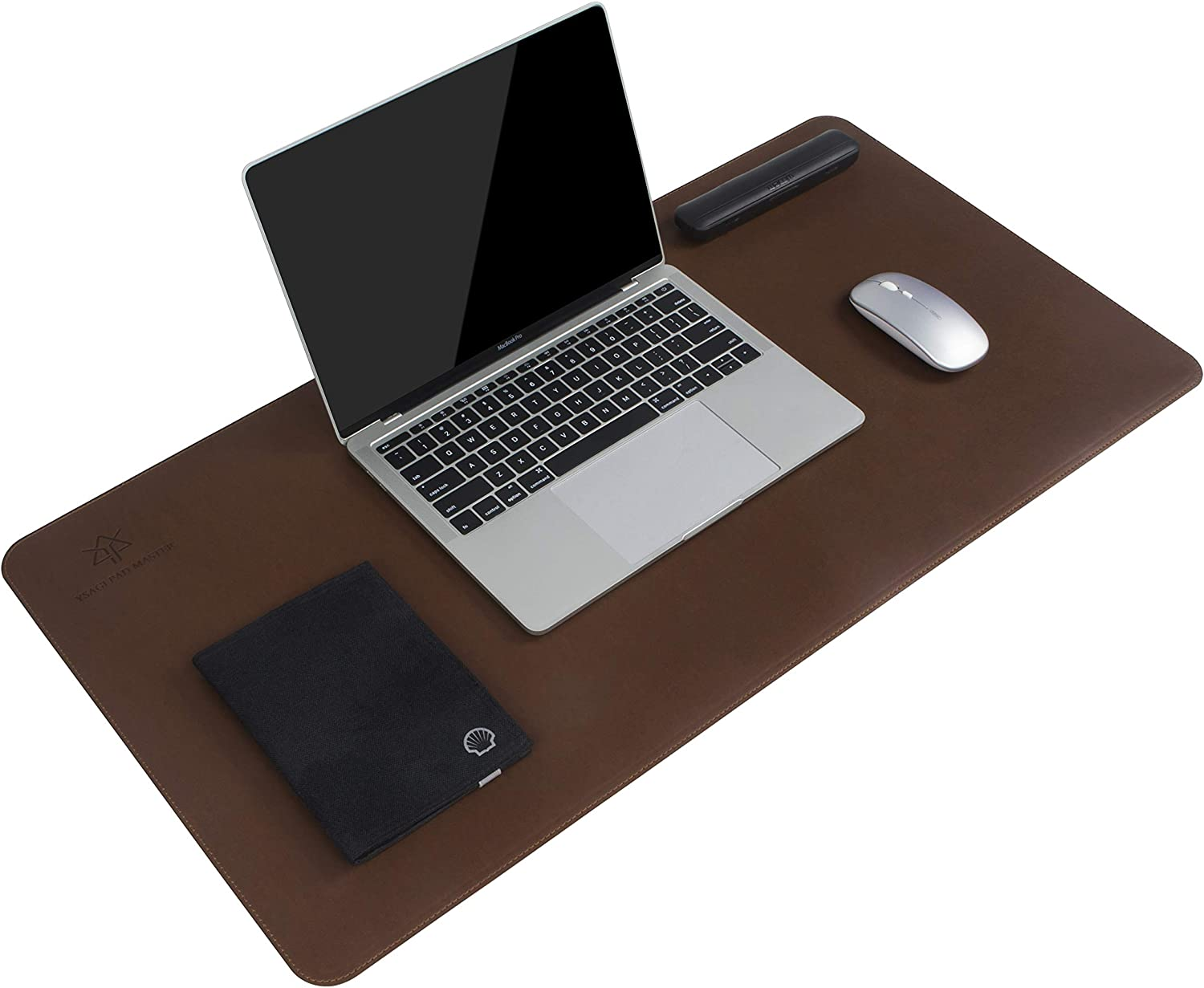 YSAGi Leather Desk Pad, Ultra Thin Writing Desk Mat Desk Protector Accessories, Large Mouse Pad for Office/Home Use (31.5