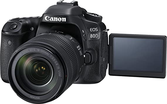 Canon Digital SLR Camera Body [EOS 80D] and EF-S 18-135mm f/3 5-5 6 Image  Stabilization USM Lens with 24 2 Megapixel (APS-C) CMOS Sensor and Dual