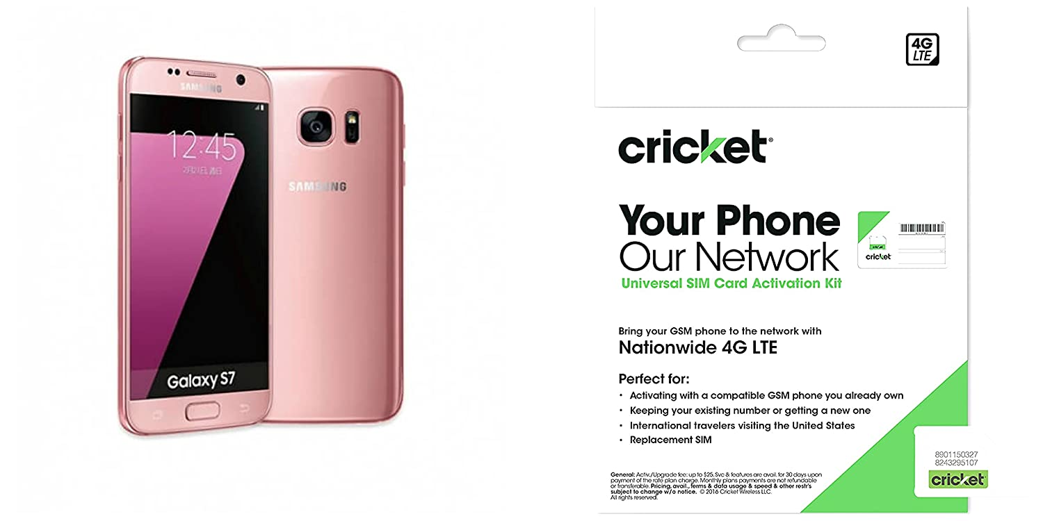 Cricketwireless com support devices - Amazon Com Cricket Wireless Samsung Galaxy S7 Pink Gold 32gb Cell Phones Accessories