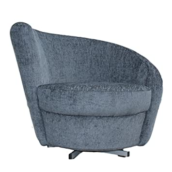 spiral swivel tub chair charcoal grey fabric amazon co uk