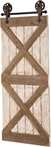 Glitzhome Rustic Wooden 3FT Barn Door Hardware Wall Decor Farmhouse Home Decor