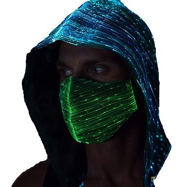 Amazon com: LED Mask Light Up Rave Mask EDM Clothing Festival