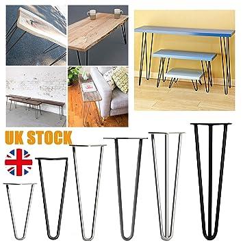 4 patas de mesa de horquilla resistentes para muebles, incluye ...