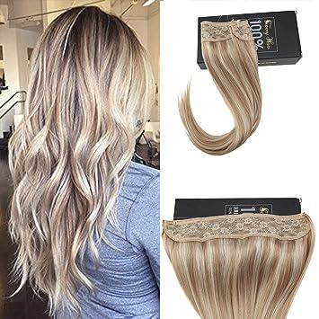 Amazon Com Sunny Halo Human Hair Extensions No Glue Hair Flip On
