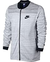 Nike Men's Sportswear Advance 15 Jacket, White/Heather/Black
