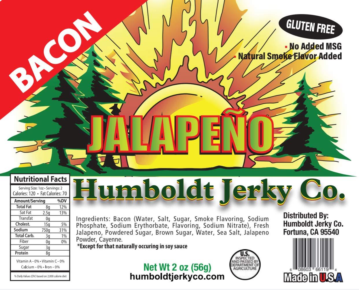 Jalapeño Bacon Jerky 2oz by Humboldt Jerky Co. (Image #1)