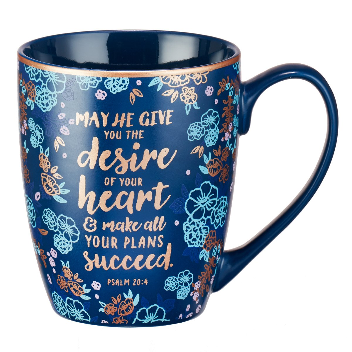 Mug - The Desire of Your Heart, Blue Christian Art Gifts