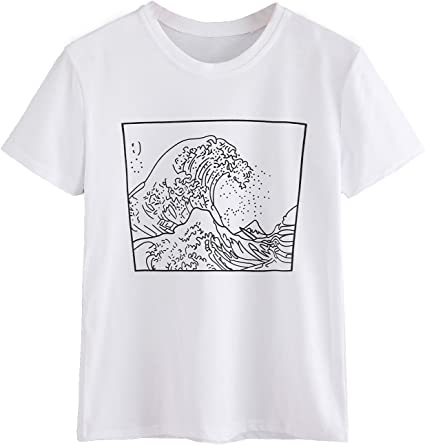 Wave Pocket Tee Girls Youth Graphic T Shirt Design By Humans