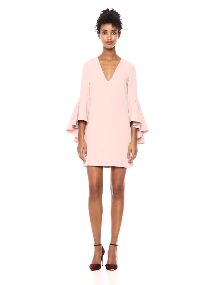650eb52573 Amazon.com  Milly Women s Italian Cady V-Neck Bell Sleeve Nicole Mini Dress   Clothing