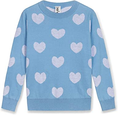 Long Sleeve Crew Neck Cotton Knit Pullover for Baby and Kids BOBOYOYO Girls Sweater Pullover Heart Sweater for Kids