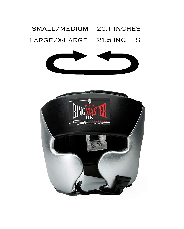 RingMasterUK Ni/ño Protector Cabeza Gorro Artes Marciales Junior Boxeo MMA Kickboxing