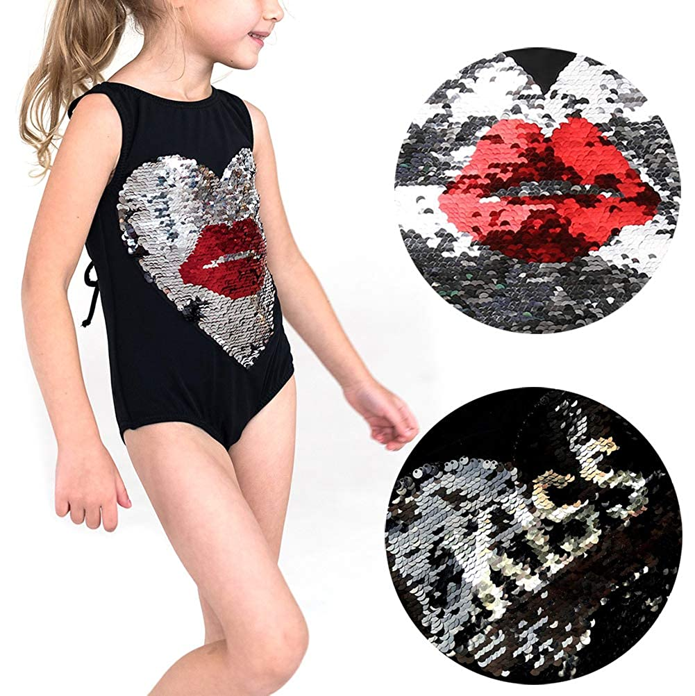 Toddler Baby Girls One-Piece Swimsuit Swimwear Kiss Shinny Bikini Bathing Suit Beachwear