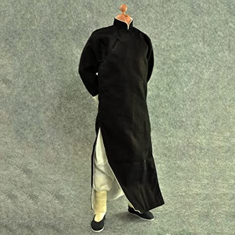 Amazon com: MonkeyJack 1/6 Black Robe Costume Yip Man Kung