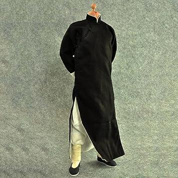 77b43ac6a538b  ノーブランド品 1 6スケール 黒 長袖 カンフースーツ ローブセット 12