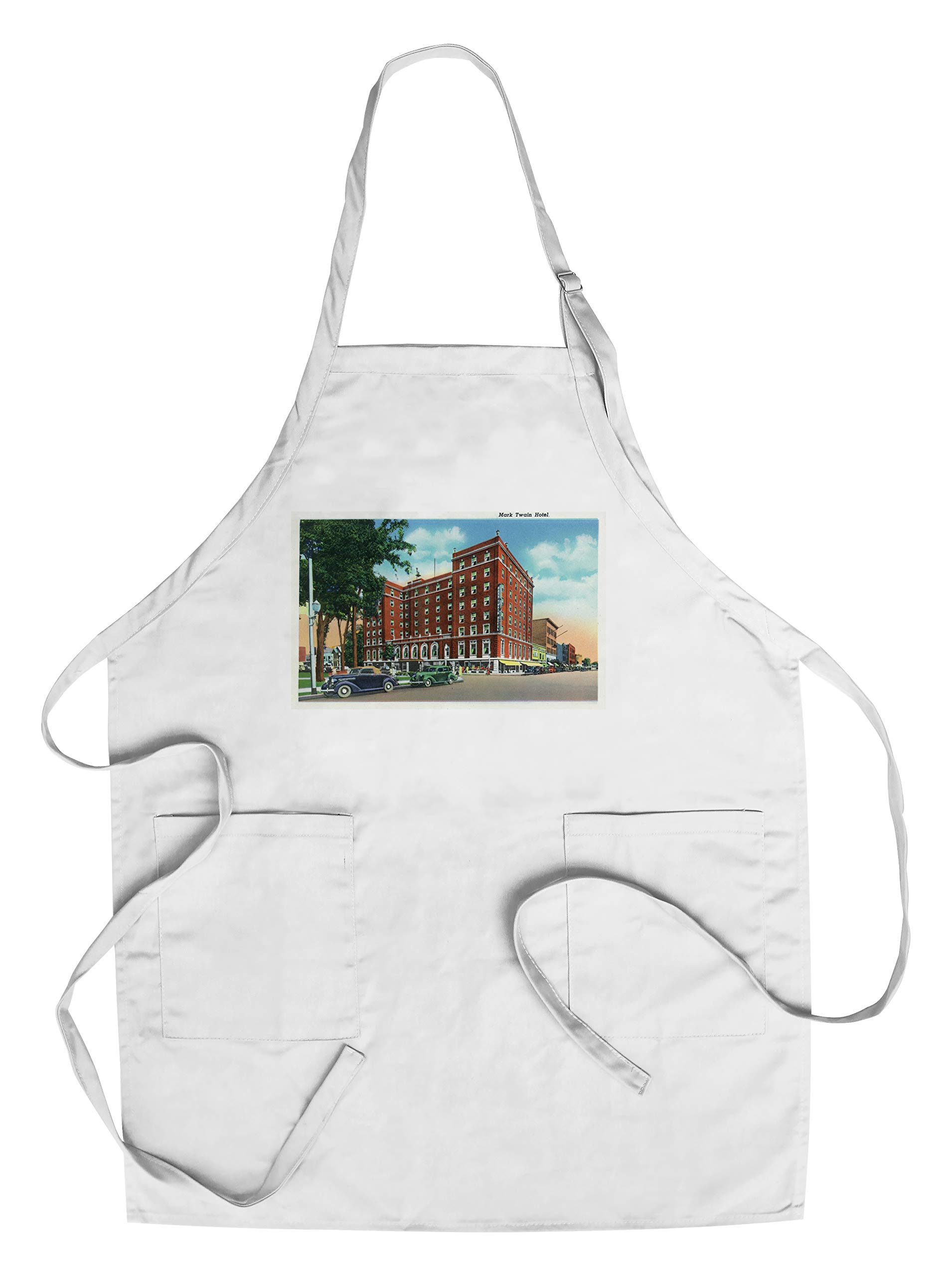 Elmira, New York - Exterior View of the Mark Twain Hotel (Cotton/Polyester Chef's Apron)
