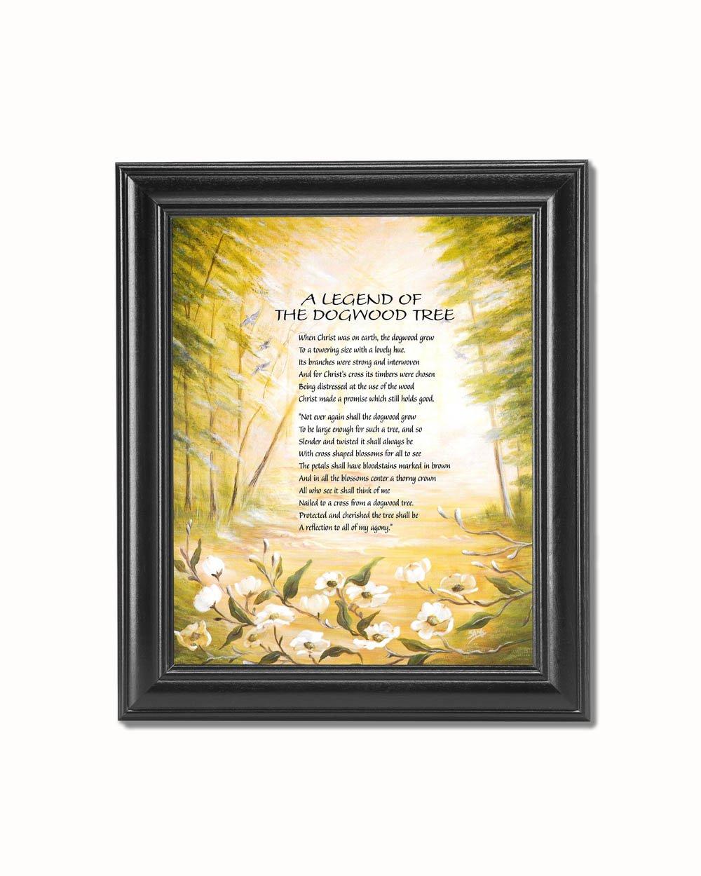 Amazon legend of the dogwood tree christian religious black amazon legend of the dogwood tree christian religious black framed 8x10 art print posters prints jeuxipadfo Images
