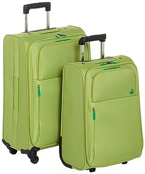 Benetton Lote de 2 Maletas Con Ruedas UNDERSCORE_58073314_VERDE 92 L: Amazon.es: Equipaje