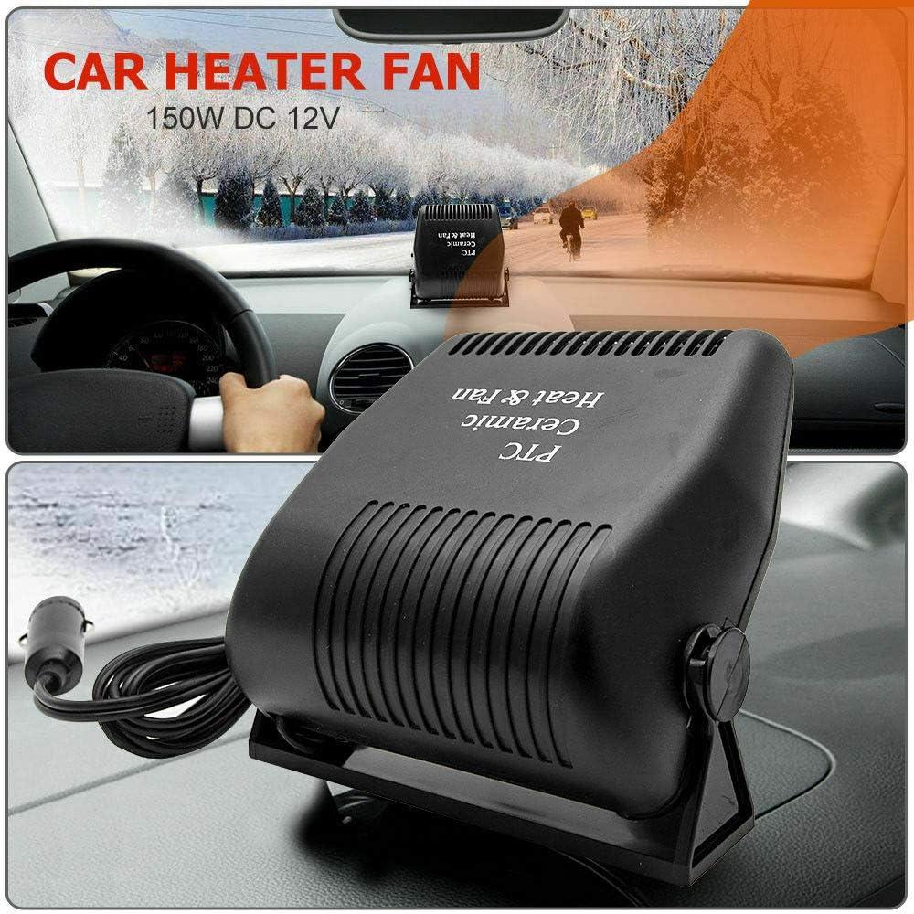 Car Heater /& Cooling Fan 2 in 1-12V 150W Auto Windshield Defogger Defroster TOTMOX Portable Car Heater Low Noise