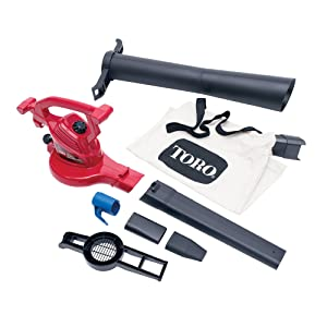 Toro 51619 Ultra Blower/Vac, Red (Corded) - Quietest Leaf Blowers Reviews
