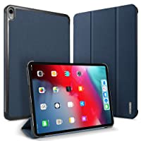 DUX DUCIS iPad Pro 12.9 Case, Ultra Slim with [Magnetic Closure] [Auto Sleep/Wake] [Kickstand] Shockproof Cover for Apple iPad Pro 12.9 inch (2018 Release) (Blue)