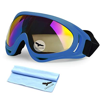 86e8b8593331 Amazon.com   Freehawk Motorcycle Goggles UV Protection Adjustable Outdoor  Glasses Dust-proof   Sports   Outdoors
