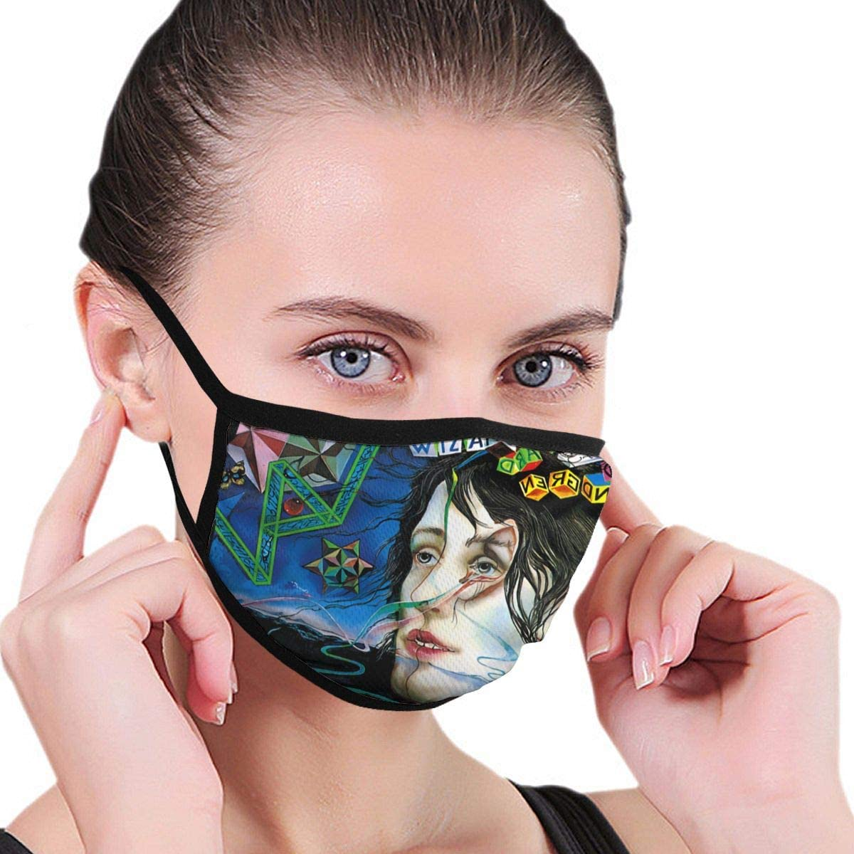Face Scarf Co/_V-Er Mouth Co/_V-Er Wi-Zard of O-Z Mouth Protection Bandana Washable and Reusable With 6 Filters