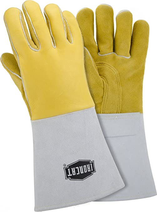 West Chester IRONCAT 6010 Premium Top Grain Cowhide Leather MIG Welding Gloves 12 Pairs Large