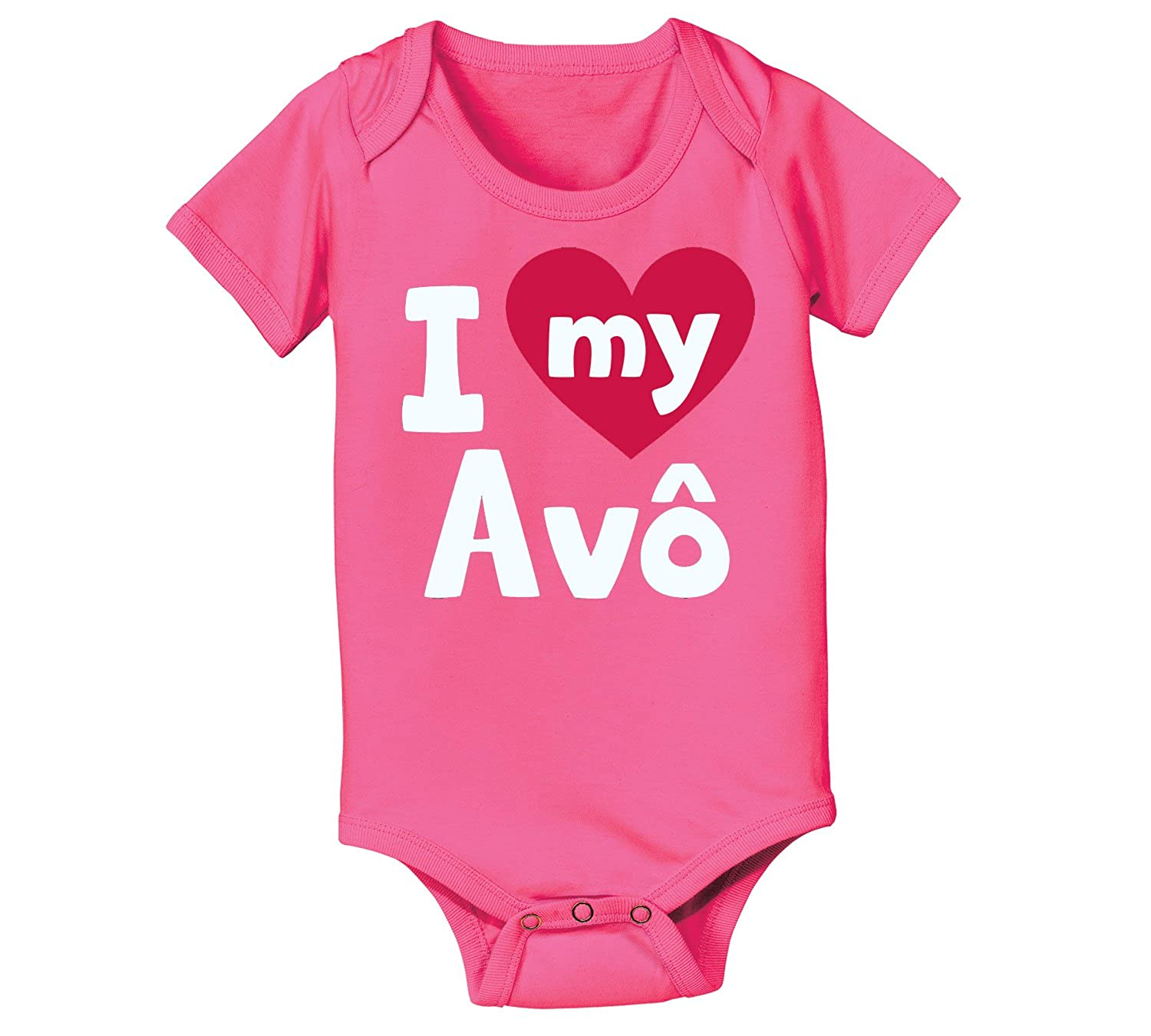 Instant Message I Heart My Av? Love Family Cute Cool-Baby One Piece Air Waves