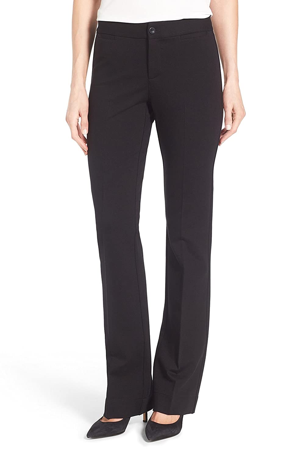 jones new york collection women black stone straight leg pants size 4