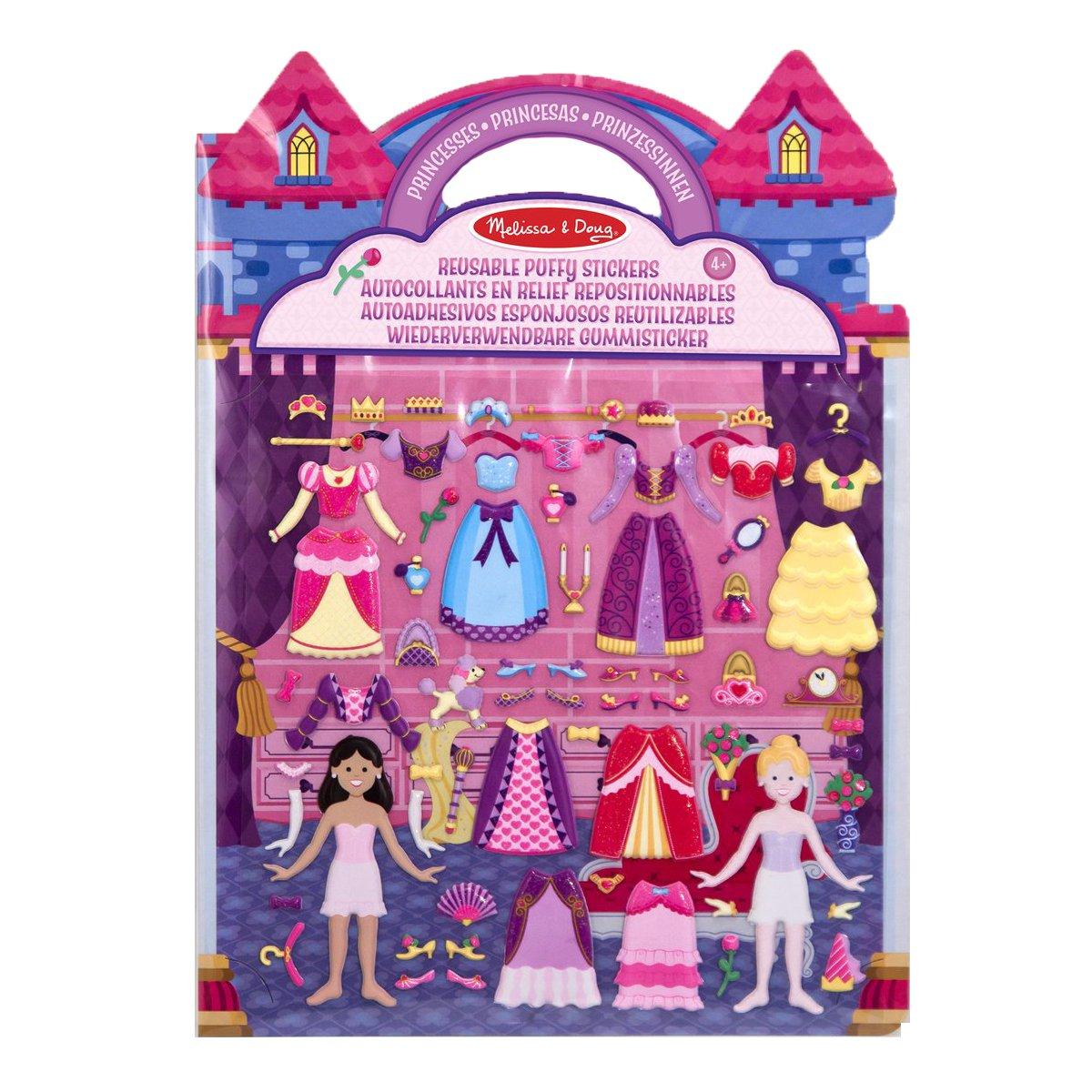 Melissa & Doug 19100 - Autoadhesivos esponjosos reutilizables princesas