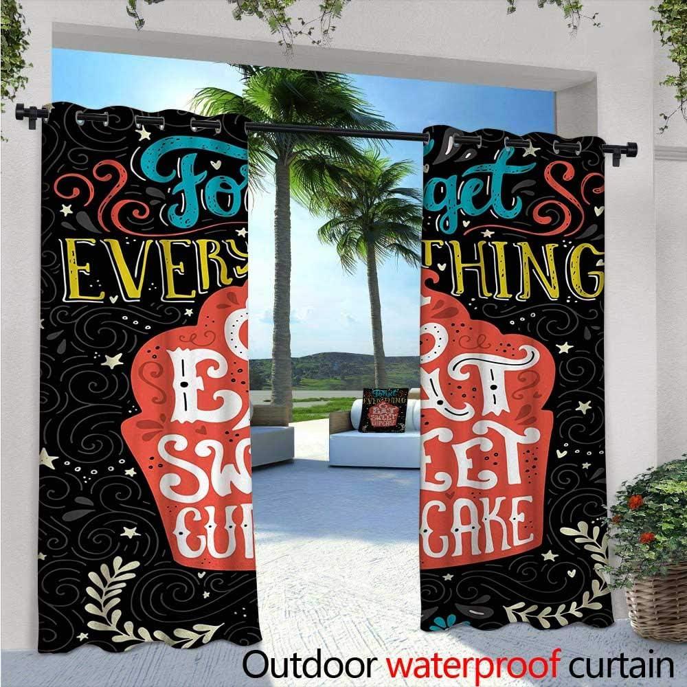 Cortinas de balcón con diseño de la Historia de Babe Now Go Make Me A Sandwich Fun Phrase Sarcastic Slang Imagen Impresión al Aire Libre Patio Cortinas Impermeables con Ojales Negro y