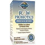 Garden of Life - RAW Probiotics Men 50 & Wiser - Acidophilus and Bifidobacteria Probiotic-Created Vitamins, Minerals, Enzymes, and Prebiotics - Gluten Free - 90 Vegetarian Capsules