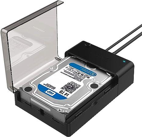 Sabrent Estación de Acoplamiento Plana del Disco Duro Externo USB 3.0 a SATA para Discos Duros de 2.5 o 3.5 Pulgadas, SSD [Soporte UASP] (EC-DFLT): Amazon.es: Informática