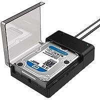 Sabrent yerleştirme istasyonu - USB 3.0 SATA harici sabit disk Lay-Flat Docking İstasyonu, 2,5 veya 3,5 inç HDD için, SSD [UASP için destek] (EC-DFLT)