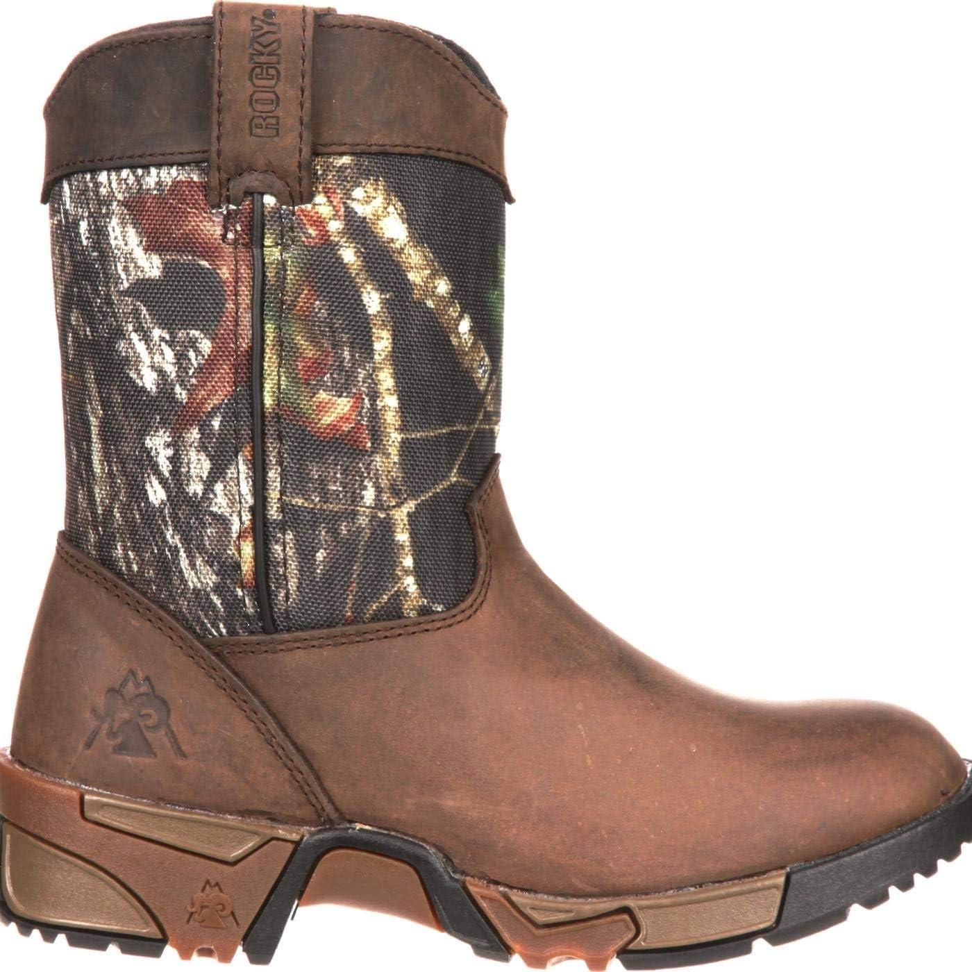 Rocky Kids/' Aztec Wellington Boot  Mossy Oak Break-Up Five layer Aztec outsole