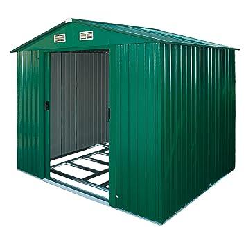DEMA Metall Garten Gerätehaus Leeds Grün: Amazon.de: Garten