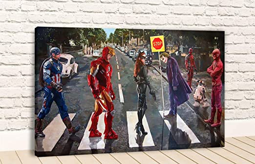 "Batman 2 Different Superhero Canvas 18/""x13/"" On A Wooden Frame Superman /& more"
